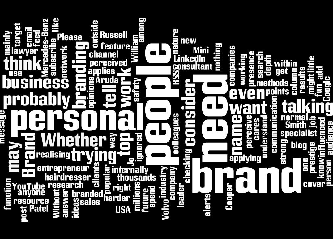 Personal Branding Wordle