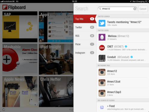 Flipboard search for #mwc12