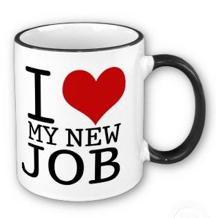 i love my new job mug
