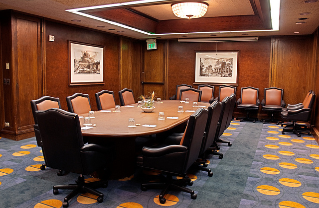 executive social media boardroom