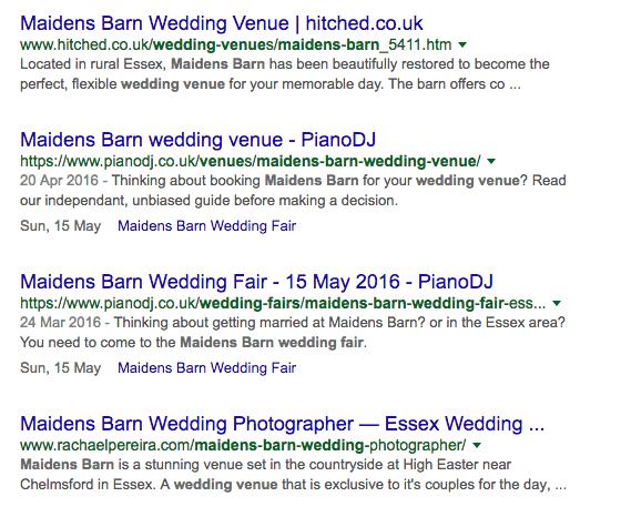 structured data wedding fair