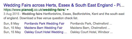 structured data wedding fairs