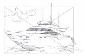 My reproduction of the boat drawing