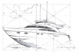 Original boat drawing
