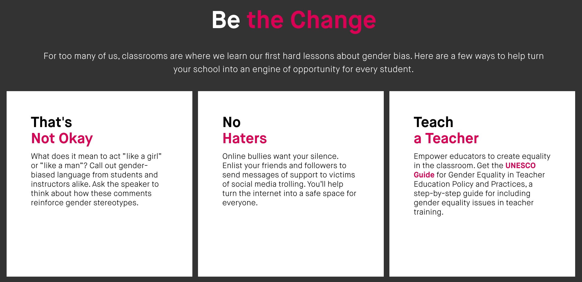 Heforshe Education Pledge No Haters