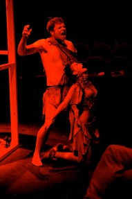 Tereus (Grant Russell) and Philomele (Lucia Young).