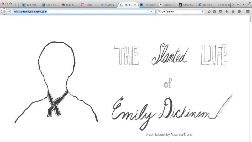 The slanted life of Emily Dickinson by Rosana Bruno