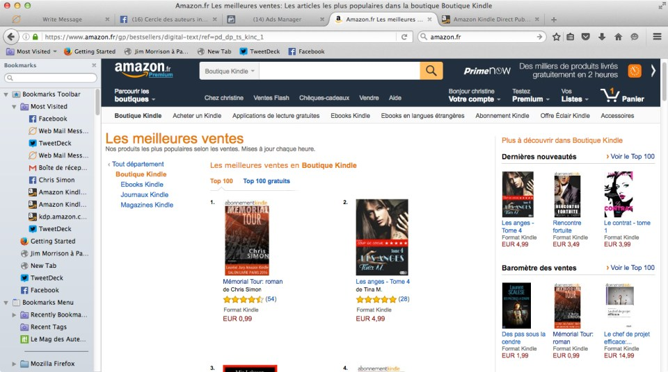 MT Number 1 Kindle 16 septembre