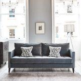 Brissi - Blue velvet sofa