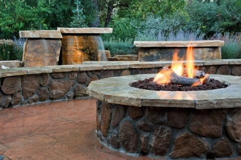 gas-fire-pit-log-landscaping fire