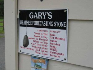 Weather forecasting stone