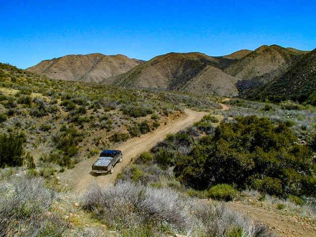 Driving along the Baja 500 route.