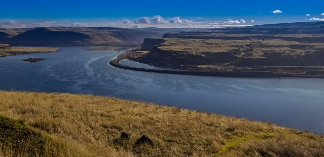 View of the gorge from Maryhill's Stonehenge