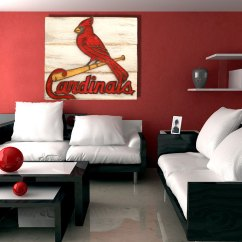 Beautiful Wall Art For Living Room Furniture Ideas Around Fireplace Saint Louis Cardinals Handmade Distressed Wood Sign ...