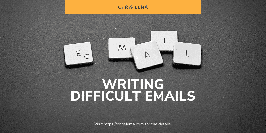 Writing difficult emails