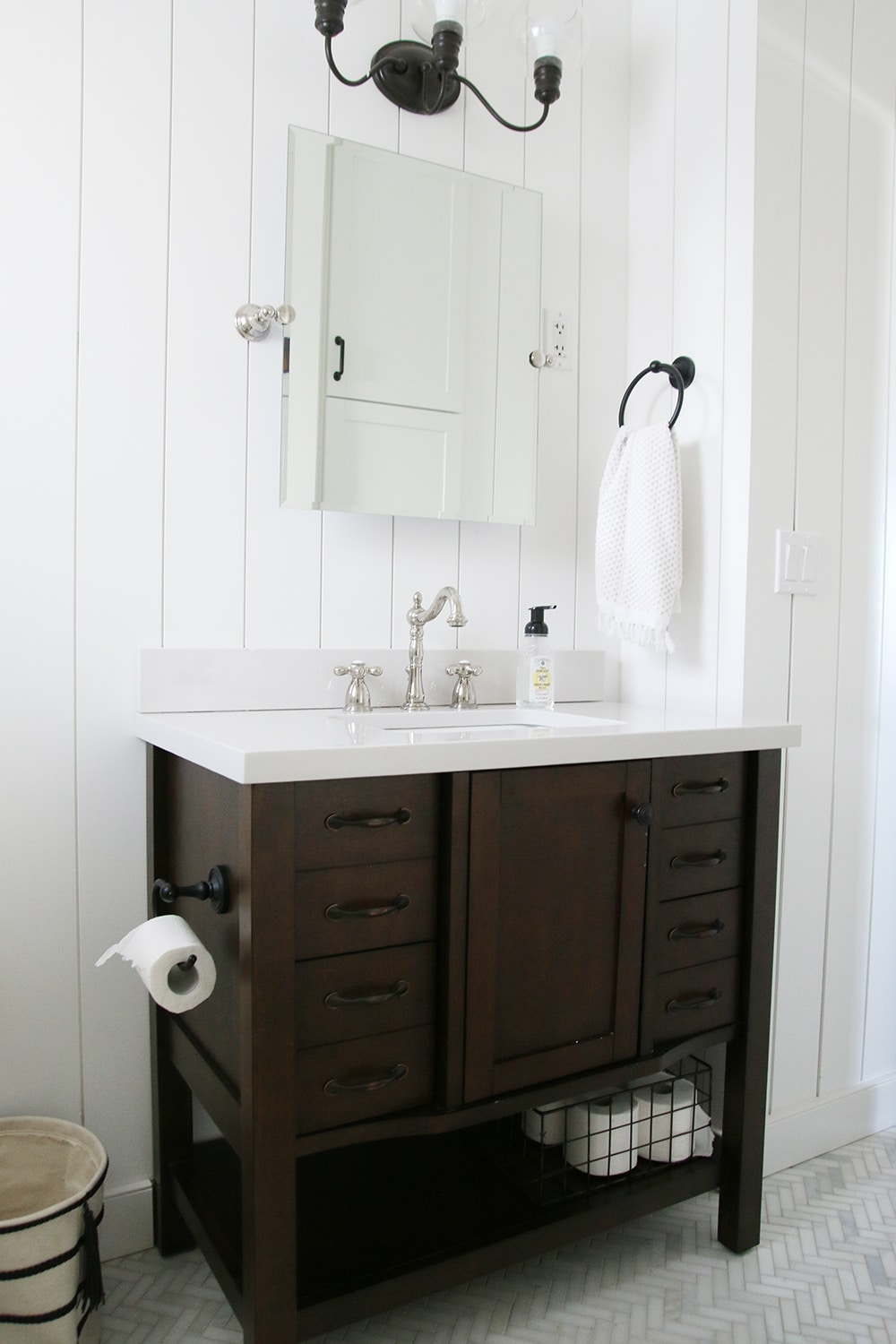 The Most Diy Friendly Bathroom Renovation We Ve Ever Done Chris Loves Julia