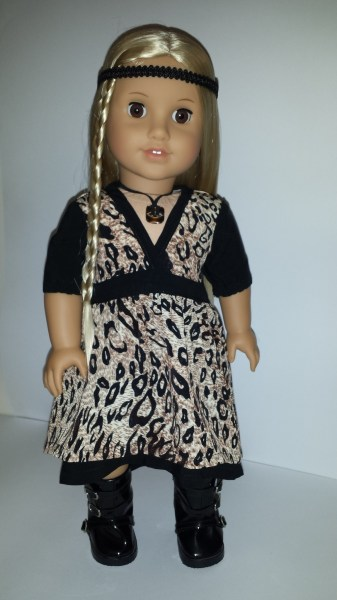 American Girl doll wearing Liberty Jane dress