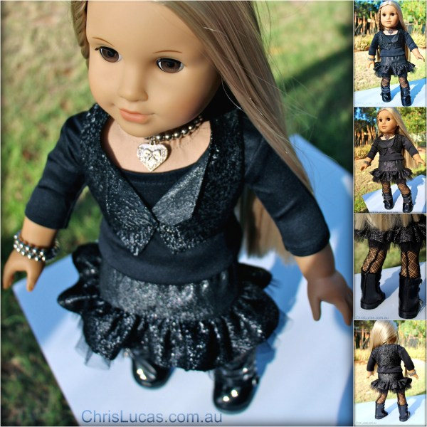 Rock Chick Outfit for American Girl Doll