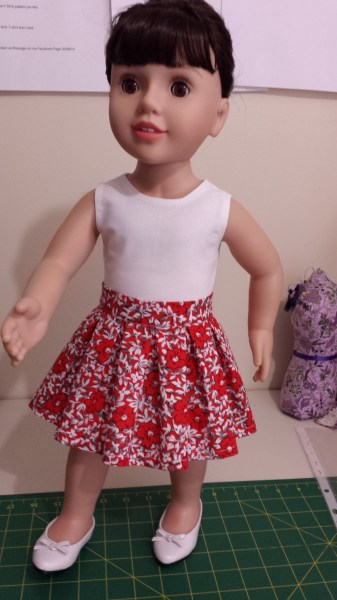 Australian Girl Doll Pleated Skirt