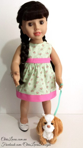Australian Girl Dolls Clothes - Reversible Dress - Chris Lucas Designs Original