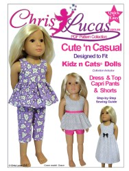 Chris Lucas Designs - Cute n Casual - KIDZ n CATS doll Sewing Pattern