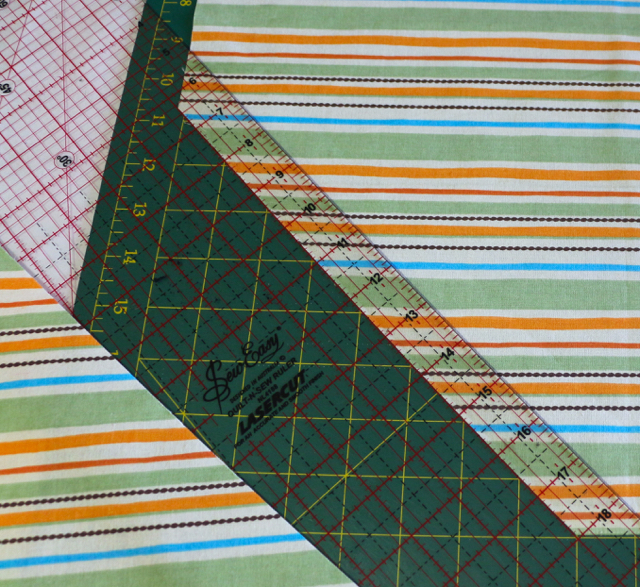 Continue Cutting Bias Strips at a 45 degree angle