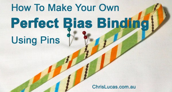 How to Make Your Own Perfect Bias Binding Using Pins