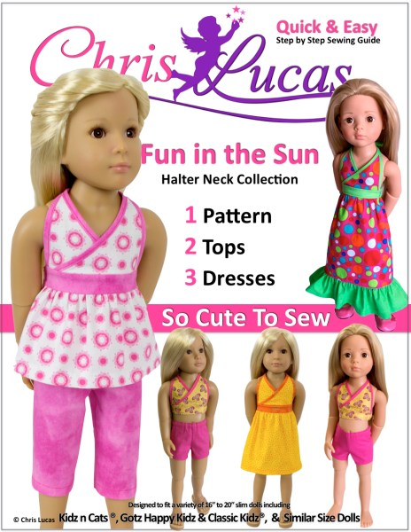 Kidz N Cats - Fun in the Sun - Doll Sewing Pattern - Chris Lucas Designs