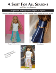 A Skirt for All Seasons - 18 Inch Doll Sewing Pattern - Design Inspiration