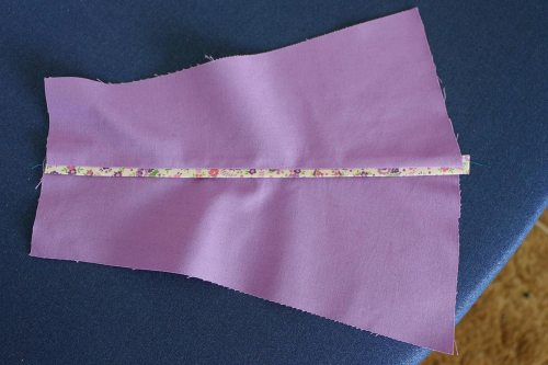 Press the seam allowance to one side