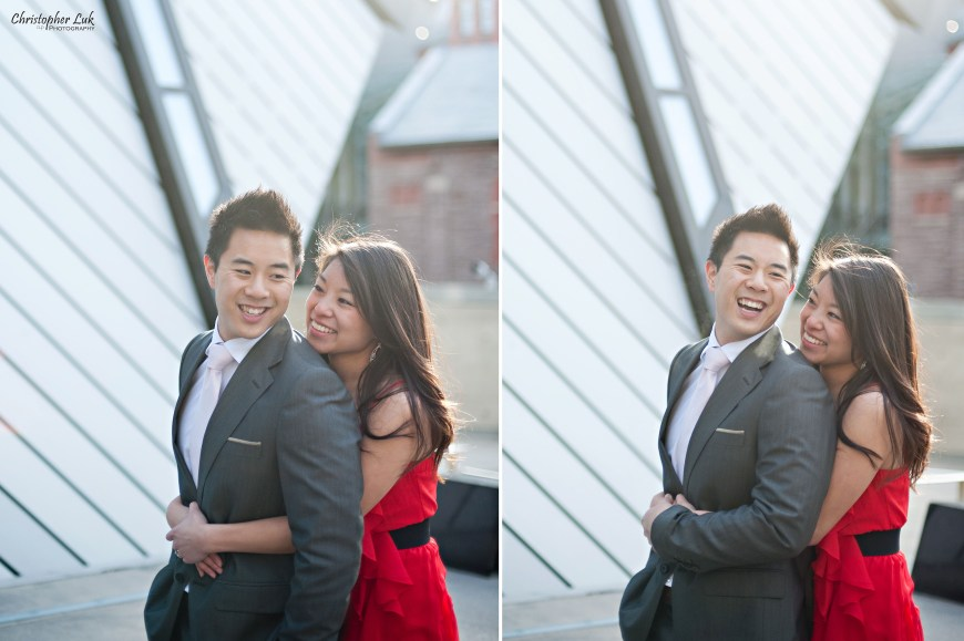 Christopher Luk Engagement Session 2012 - Erin and Brian - Toronto Wedding Photographer Downtown Royal Ontario Museum - Casual Relaxed Candid Photojournalistic Photojournalism Portraits