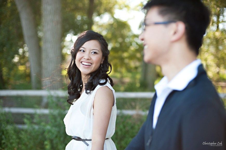 Christopher Luk 2012 - Engagement Session - Keren and Mat - Cherry Beach Historic Distillery District - Toronto Wedding Lifestyle Lifetime Photographer - Walking Together Smile Laugh