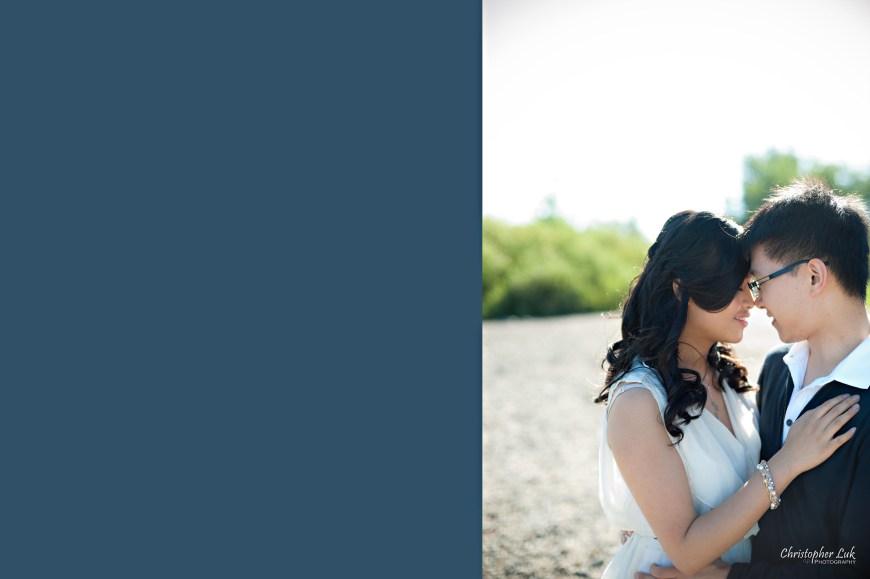 Christopher Luk 2012 - Engagement Session - Keren and Mat - Cherry Beach Historic Distillery District - Toronto Wedding Lifestyle Lifetime Photographer - Almost Kiss Warm Embrace