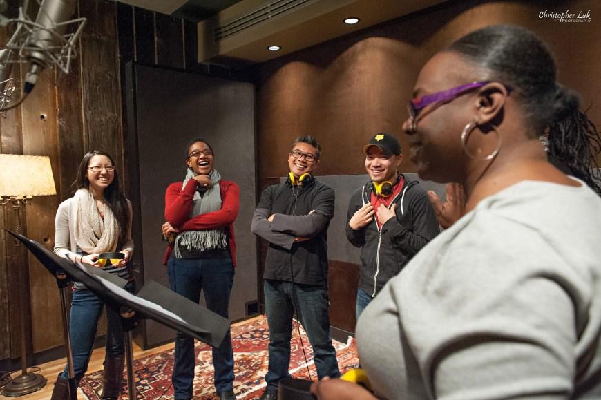 Christopher Luk 2013 - Revolution Recording and The University of Toronto Gospel Choir - Day 5 - Toronto Wedding Portrait Lifestyle Photographer - Lisa Toussaint - Laughing