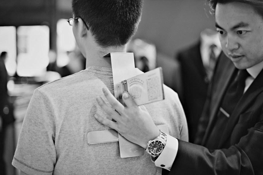 Christopher Luk Wedding - Garrison Bespoke - Toronto Financial District Custom Suit Shirt Tuxedo Sportcoat Overcoat Shoes Tailors - Michael Nguyen Davie Tham JS Vann - Measurements Back Shoulder Slope Angle Bubble Level