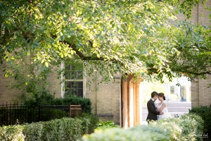Christopher Luk (Toronto Wedding, Portrait and Event Photographer): Alison and Kenneth's Pre-Wedding Session at The University of Toronto St George Campus Downtown Creative Relaxed Natural Candid Photojournalistic Documentary Lifestyle Bride and Groom Hug Smile Golden Path Archway Arch Tree