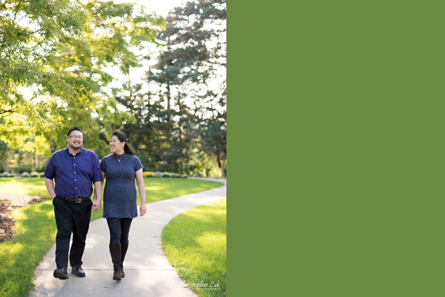 Christopher Luk (Toronto Wedding Engagement Session Photographer) - RBG Royal Botanical Gardens Bride Groom Natural Candid Photojournalistic Trail Walking Laughing