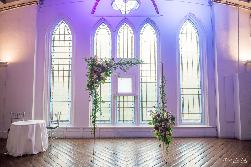 Christopher Luk (Toronto Wedding Photographer): Berkeley Church Vintage Rustic Ceremony Candlelight Dinner Reception Pinterest Worthy Details Coriander Girl Floral Canopy Flower Feature