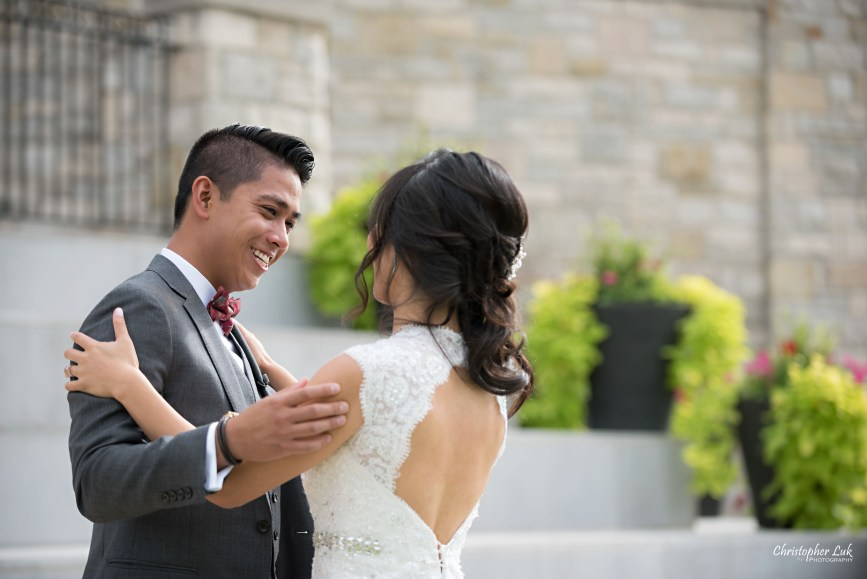Christopher Luk Toronto Wedding Portrait Lifestyle Event Photographer - Eagles Nest Golf Club Outdoor Ceremony Toronto Raptors Blue Jays Sports Fans Candid Natural Photojournalistic Bride Groom First Look Reveal Emotional Smile