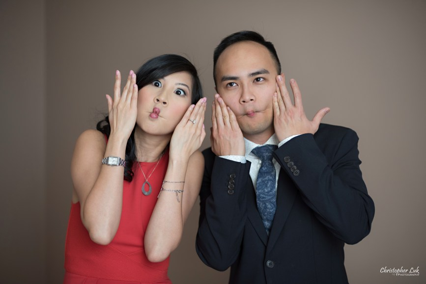 Christopher Luk (Toronto Wedding Photographer): Winter Indoor Engagement Session PreWedding Pictures Heintzman House Photos Markham York Region Natural Candid Photojournalistic Bride Groom Funny Fish Lips Gills Fins Silly Faces