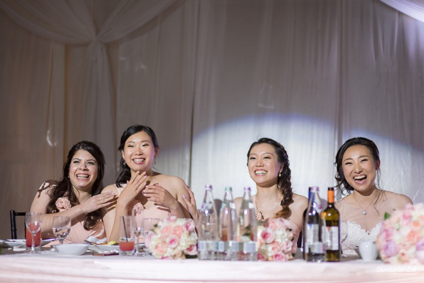 Christopher Luk Toronto Wedding Photographer - Casa Loma Conservatory Ceremony Creative Photo Session ByPeterAndPauls Paramount Event Venue Space Eastwood Room Bride Bridesmaids Natural Candid Photojournalistic Speeches Laughing Happy
