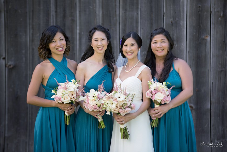 Christopher Luk - Toronto Wedding Lifestyle Event Photographer - Photojournalistic Natural Candid Markham Museum Creative Portrait Session Bride Bridesmaids Bridal Party Barn Smile