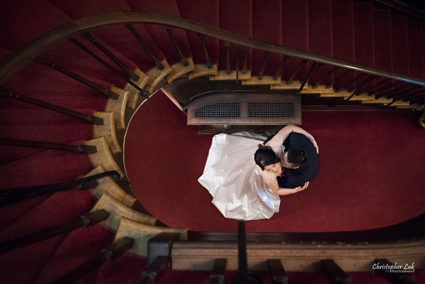 Toronto Wedding Photographer Heintzman House Winter Wedding Markham York Region Historic Estate Event Venue Photojournalistic Documentary Candid Natural Creative Portrait Session Bride Groom Spiral Grand Staircase