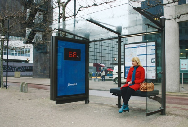 Fitness First Bus Shelter Scale
