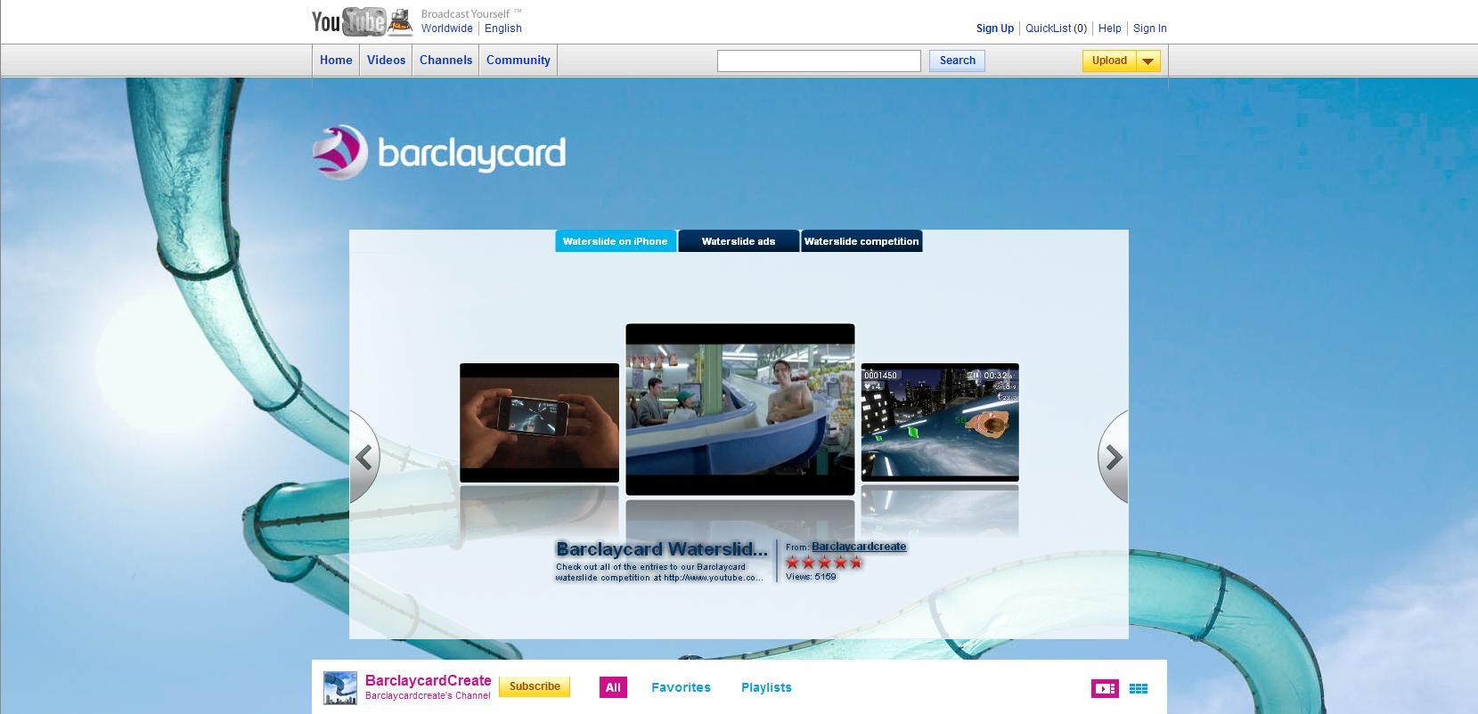 YouTube Brand Channel - Barclaycard Create