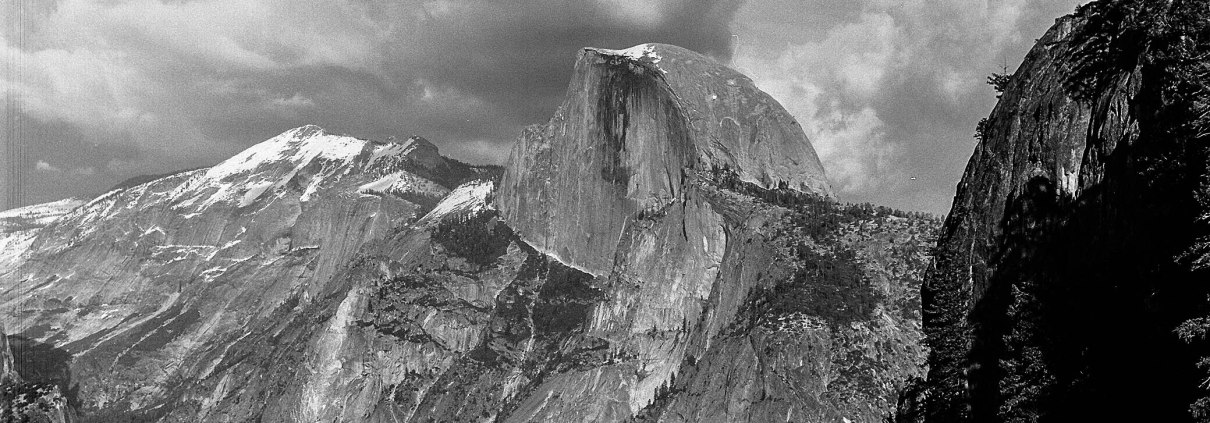 Half Dome in Yosemite National Park, California as seen from Four Mile Trail