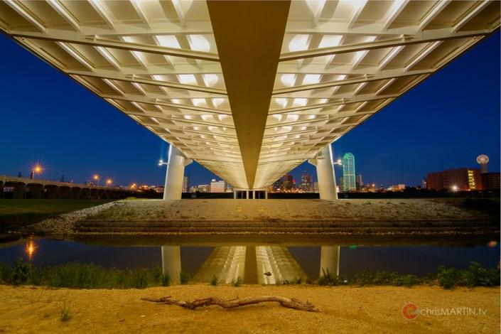 Margaret Hunt Hill Bridge Undercarriage, Dallas, TX