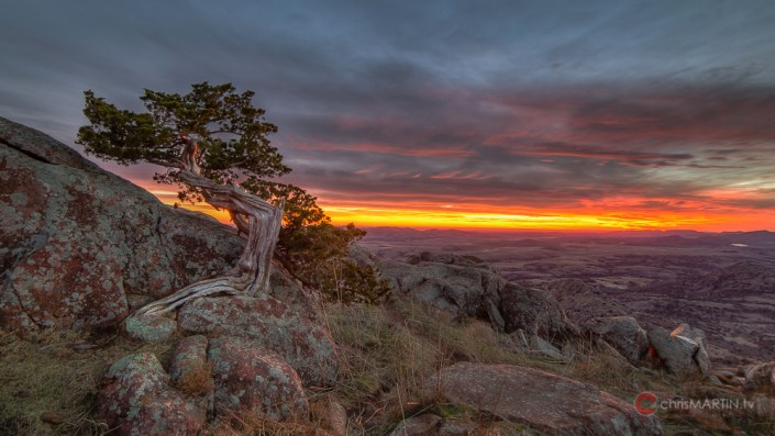Mount Scott Sunset, Wichita Mountain Wildlife Refuge, Lawton, OK