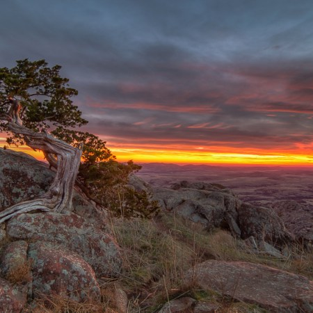 Mount Scott Sunset, Wichita Mountain Wildlife Refuge, Lawton, OK