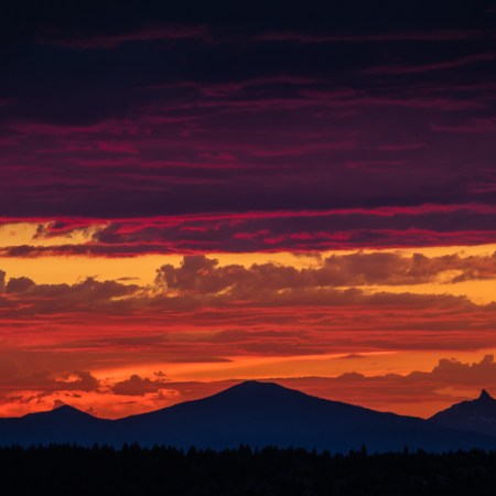 Sunset in Bend, OR